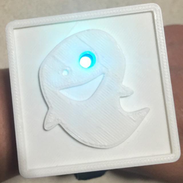 【LEDタグWATCH】おばけに近づくと教えてくれる装置