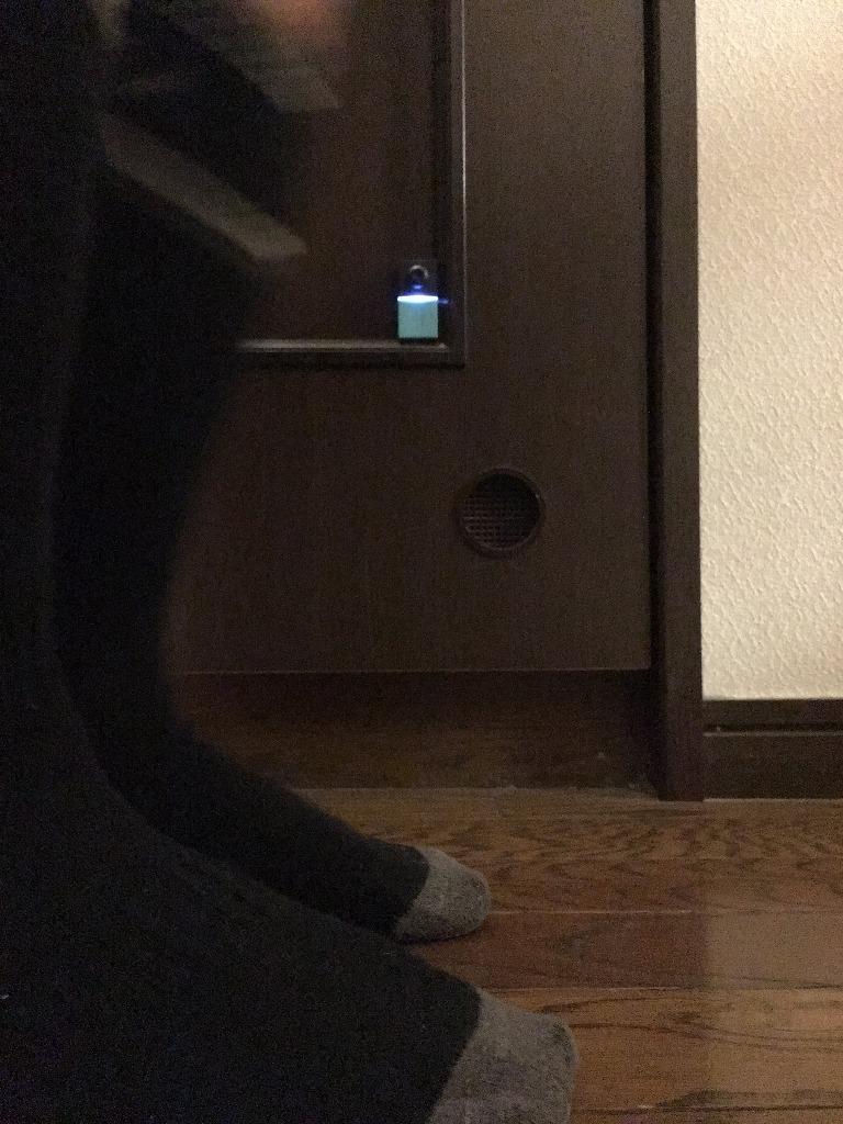 トイレの外から中の人に扉を開けないようひっそり伝えます