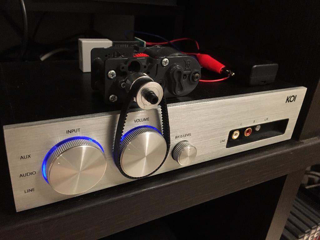 リモコンが使えないアンプのボリュームを遠隔操作
